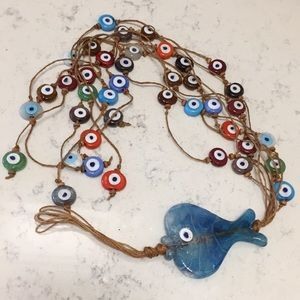 Glass fish and Turkish evil eye wall hanging 🧿🧿